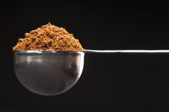 Measure of ground coffee Royalty Free Stock Images