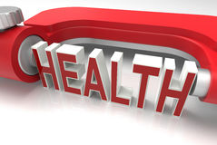 Measure health concept. 3D rendered illustration for the concept of measuring a person's health Royalty Free Stock Photos