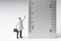 Measure of a man stock images