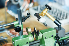Measure in manufacturing industry Royalty Free Stock Photography