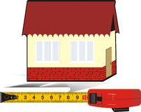 Measure meter and house. Logo royalty free stock images