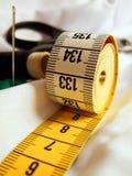 Measure needle thread scissors Royalty Free Stock Images