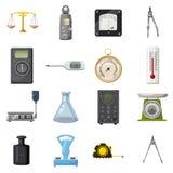 Measure precision tools icons set, cartoon style Stock Photo