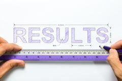 Measure results concept Stock Photography
