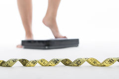 Measure scale for check your weight Royalty Free Stock Photo