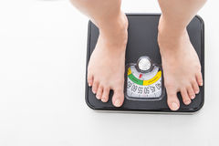 Measure scale for check your weight. With white background royalty free stock images