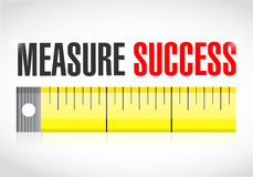 Measure success illustration Stock Photo