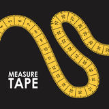 Measure tape design Royalty Free Stock Image