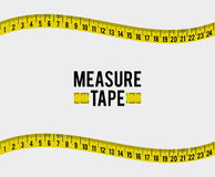 Measure tape and dieting Royalty Free Stock Photo