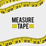Measure tape and dieting Royalty Free Stock Images