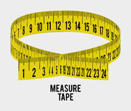 Measure tape and dieting Stock Photography