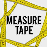 Measure tape and dieting Royalty Free Stock Image