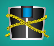 Measure tape and dieting Stock Image