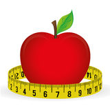 Measure tape and dieting Royalty Free Stock Photos