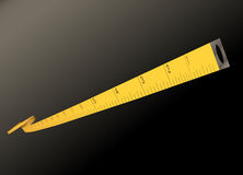 Measure tape - inches - vector Stock Images