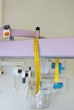 Measure tape for infant newborn Stock Image