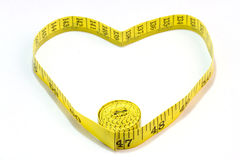 Measure tape. Isolated Royalty Free Stock Image