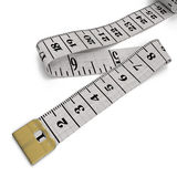 Measure tape. Isolated. 3D illustration Royalty Free Stock Photo