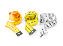 Measure tape. Isolated over white. Stock Image
