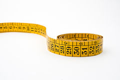 Measure tape isolated on white Stock Photography