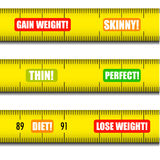 Measure tape messages Royalty Free Stock Photo