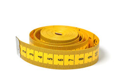 Measure tape over white Stock Photography