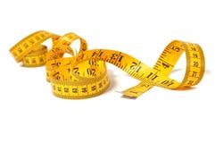 Measure tape over white Stock Photos