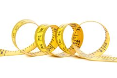 Measure tape over white Royalty Free Stock Image
