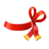 Measure tape ribbon bow Stock Photos
