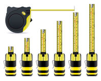 Measure tape, vector Royalty Free Stock Photo