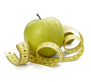 Measure tape tailor diet fitness Stock Photography