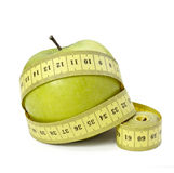 Measure tape tailor diet fitness Royalty Free Stock Images