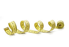 Measure tape tailor diet fitness length weight Stock Image
