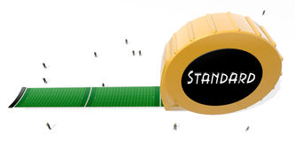 Measurements. Tape measure using Football Fields as a standard unit for measuring large things Stock Photography
