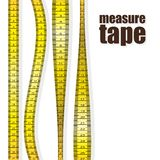 Measure tapes. In different positions isolated on white background. vector illustration Royalty Free Stock Photo