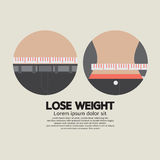 Measure TapFlat Design Lose Weight Healthy Concept Stock Images