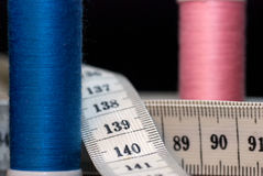 Measure and thread Stock Photography