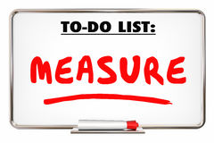 Measure To Do List Evaluate Analyze Dry Erase Board Stock Photography