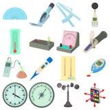 Measure tools icons set, cartoon style Stock Image