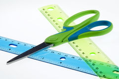 Measure twice, cut once Stock Image