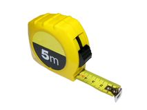 Measure Up (with clipping path). Retractable Measuring tape - Could be used for performance measures - Clipping path is included in the file Royalty Free Stock Images
