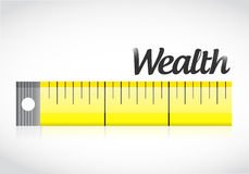 Measure wealth concept illustration design Royalty Free Stock Photography