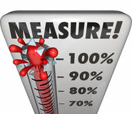 Measure Word Thermometer Level Rating Rising Increase Goal vector illustration