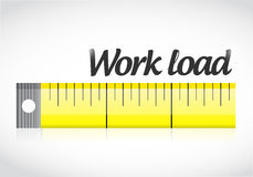 Measure work load illustration design Stock Images