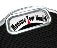 Measure Your Health Scale Weight Loss Healthy Checkup Stock Images