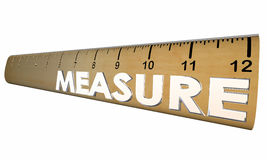 Measure Your Health Wellness Fitness Ruler Royalty Free Stock Photography