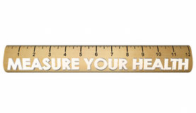 Measure Your Health Wellness Fitness Ruler Stock Photo