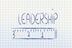 Measure your leadership Royalty Free Stock Photos