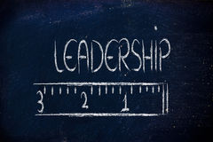 Measure your leadership. Humour design of a ruler measuring leadership Royalty Free Stock Photos