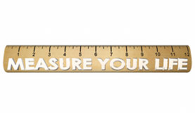 Measure Your Life Happiness Satisfaction Ruler Royalty Free Stock Photos